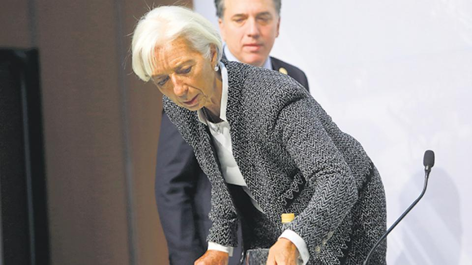 Christine Lagarde, directora gerente del FMI, brindó una conferencia de prensa junto al ministro Nicolás Dujovne.