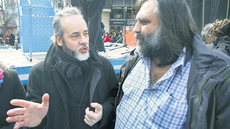 Eduardo López (UTE) y Roberto Baradel (Suteba), dirigentes de Ctera en ciudad y provincia de Buenos Aires.
