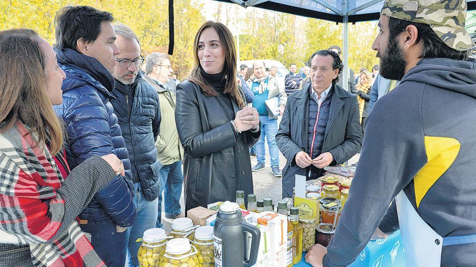 La gobernadora María Eugenia Vidal continúa con su agenda sin dar explicaciones ante las denuncias.