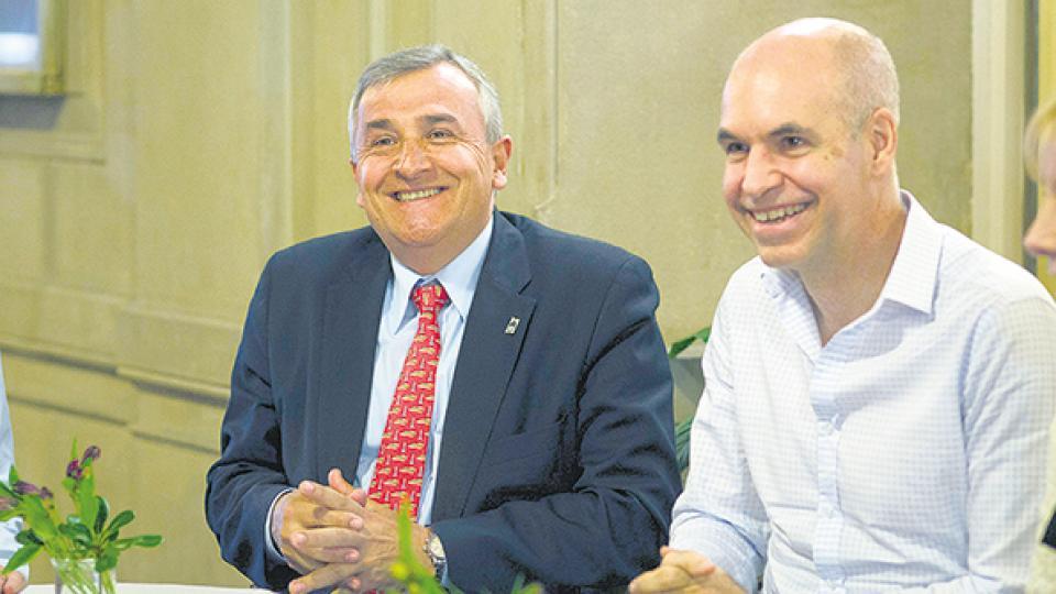 Gerardo Morales y Horacio Rodríguez Larreta no quieren que caiga la actividad económica.