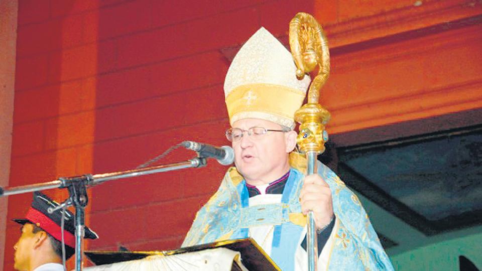 El obispo de Catamarca, Luis Urbanc.
