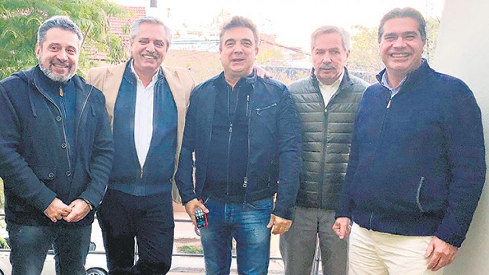 Los dirigentes del peronismo, durante el último encuentro que mantuvieron el mes pasado en Corrientes.