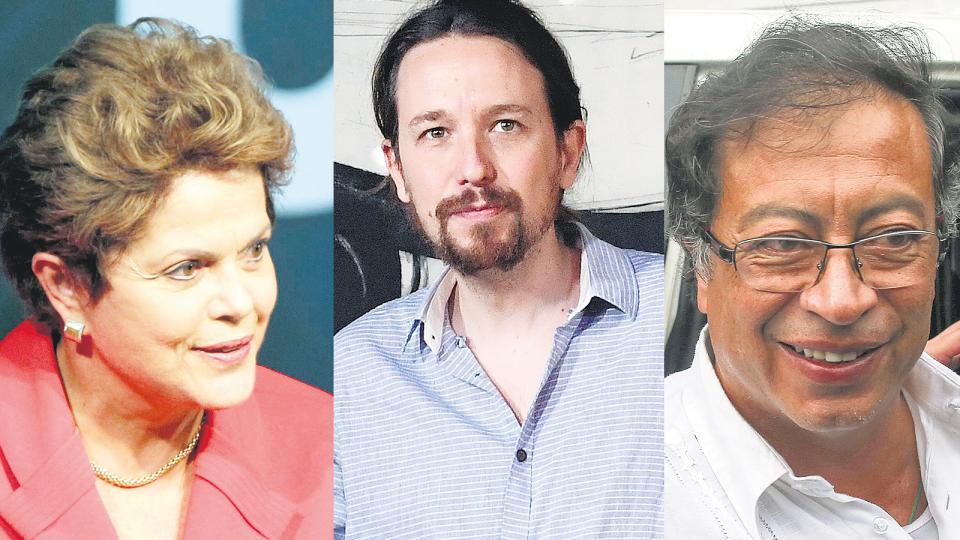 Dilma, Iglesias y Petro, algunos de los políticos latinoamericanos que apoyaron a AMLO.