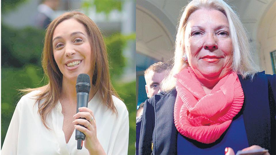 La gobernadora Vidal y la diputada Carrió quedaron envueltas en las irregularidades.