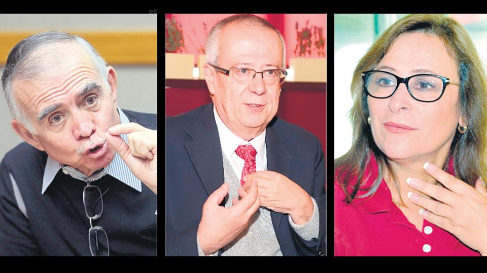 De izq. a der.: Alfonso Romo, Manuel Urzúa y Rocío Nahle García, tres figuras del próximo gobierno.