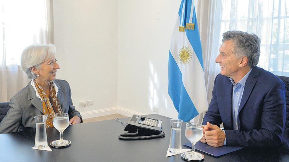 El presidente Mauricio Macri junto a la directora gerente del FMI, Christine Lagarde.