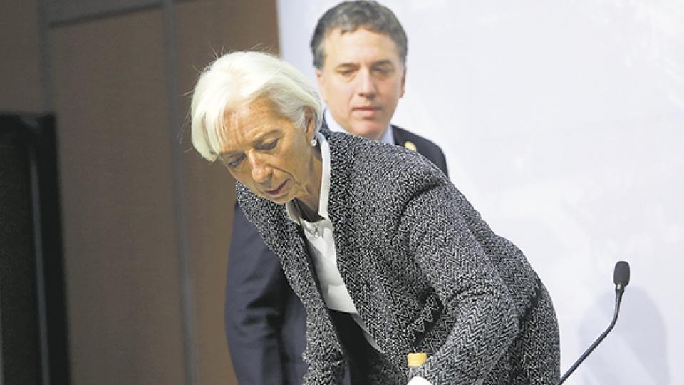 Christine Lagarde, titular del FMI, y Nicolás Dujovne, ministro de Hacienda, deberán renegociar.