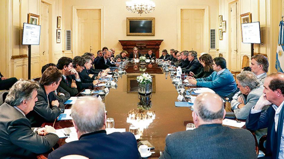 El presidente Mauricio Macri encabezó ayer una nueva reunión de Gabinete en la Casa Rosada.
