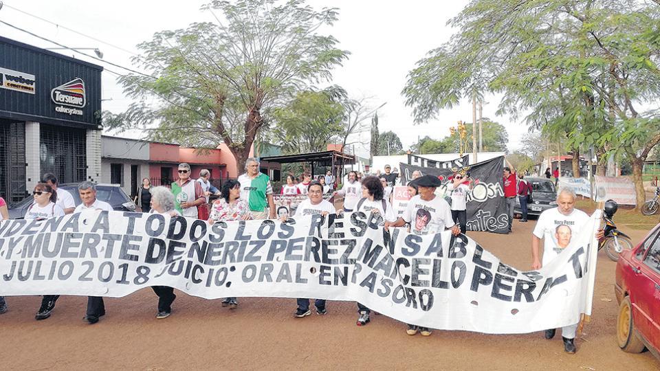 Los organismos movilizaron la comunidad de Gobernador Virasoro para buscar justicia en el caso.