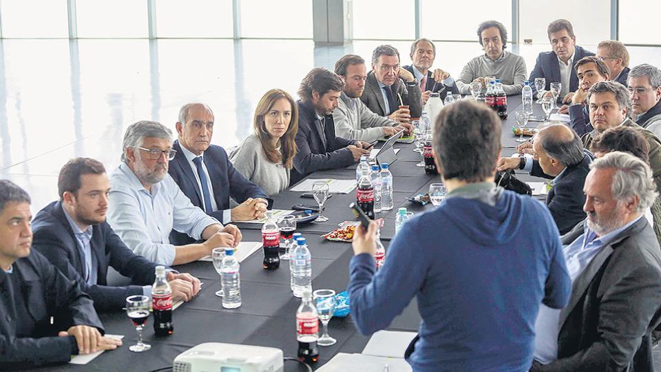 María Eugenia Vidal encabezó ayer la reunión de gabinete bonaerense en La Plata.