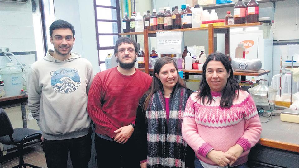 De izquierda a derecha, Gabriel de Diego, Juan Pablo Ferro, Ayelén González Núñez y Bettina Eissa, de la UNLu.