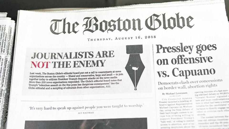 El tradicional diario The Boston Globe inició una campaña que comenzó el miércoles.