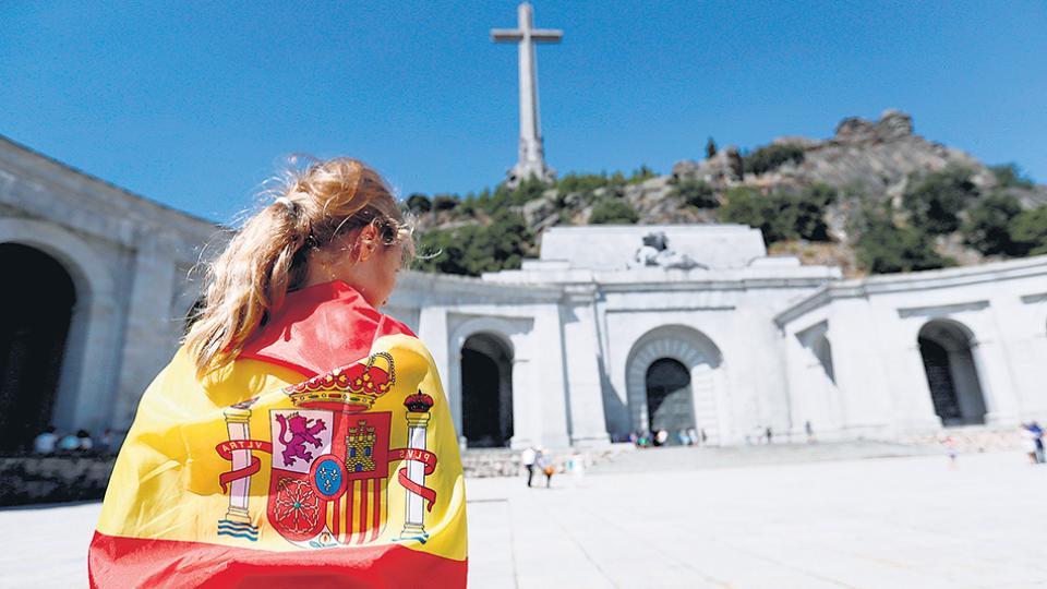 El mausoleo del Valle de los Caídos, donde están los restos de Franco.