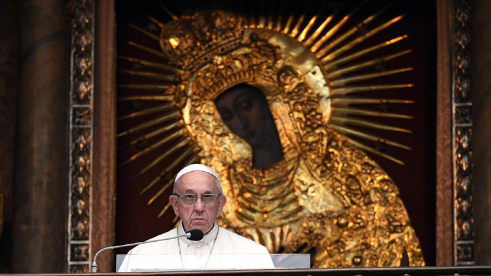 El Papa argentino hoy en Lituania, adonde llegó en visita oficial.