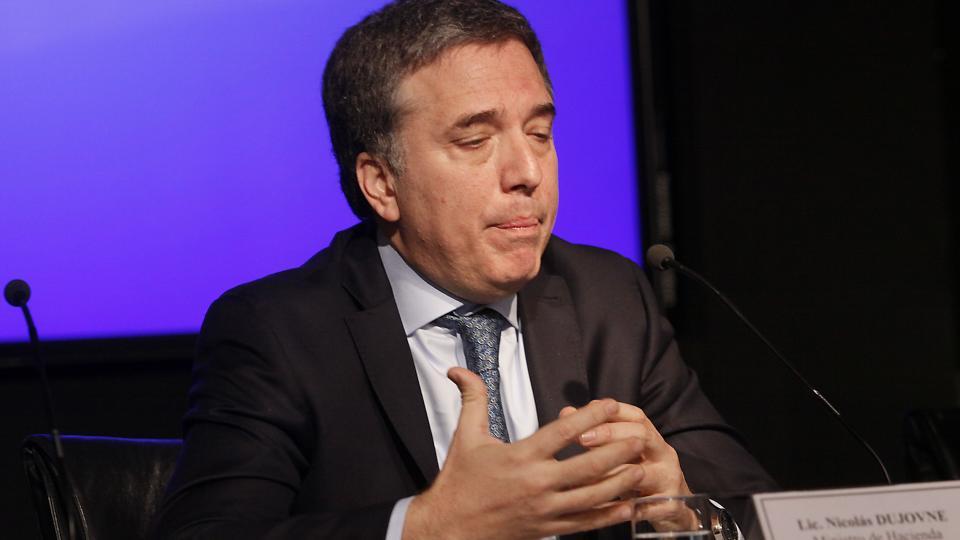 Nicolás Dujovne irá hoy al Congreso a defender el proyecto de ley de Presupuesto para 2019.