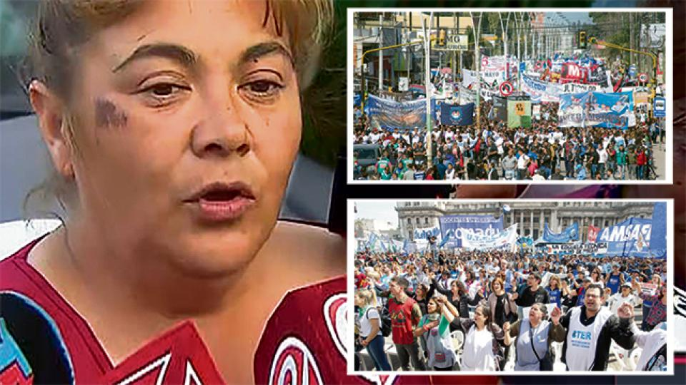 Miles de personas marcharon en Moreno en repudio del ataque y en reclamo del esclarecimiento del hecho.