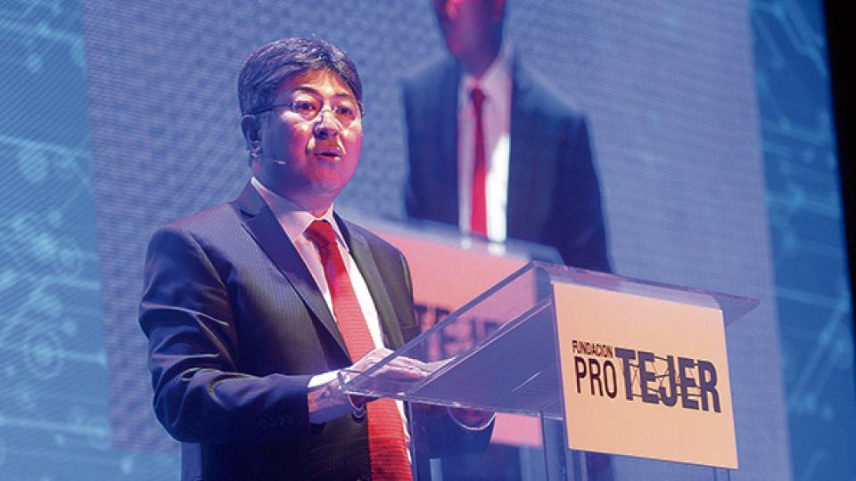 Yeal Kim, presidente de Protejer, en la conferencia de la entidad.