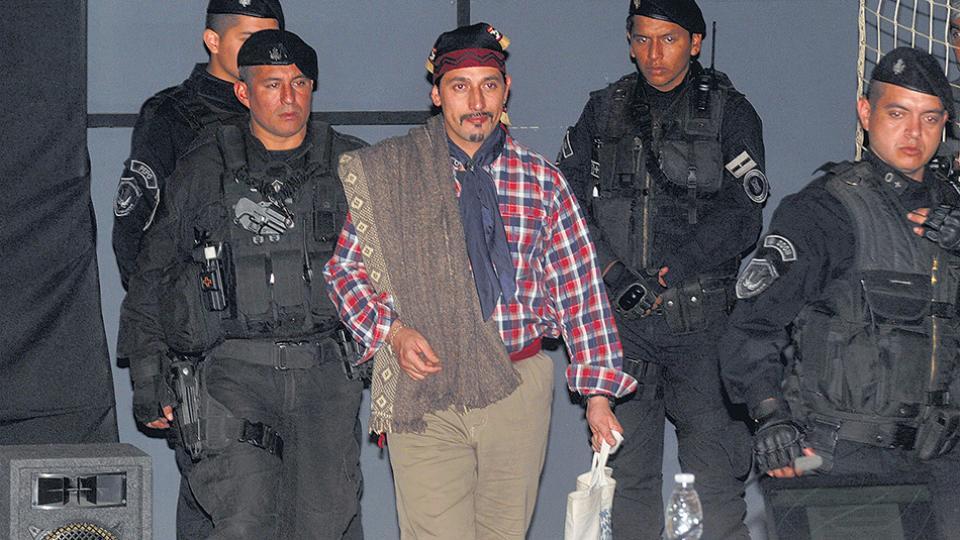 Facundo Jones Huala fue trasladado al penal federal de Esquel el 25 de agosto pasado.