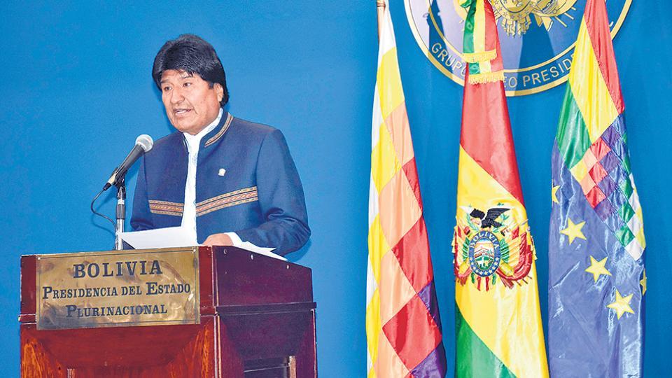 """""""Estamos con la razón, con la verdad, buscando justicia"""", dijo el mandatario Evo Morales."""