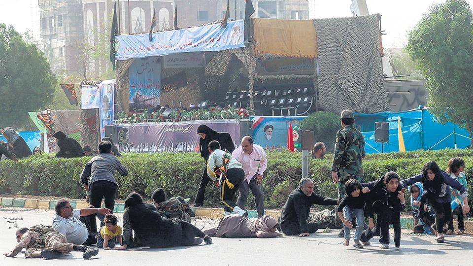 Tras el atentado a un desfile militar en la ciudad iraní de Ahvaz