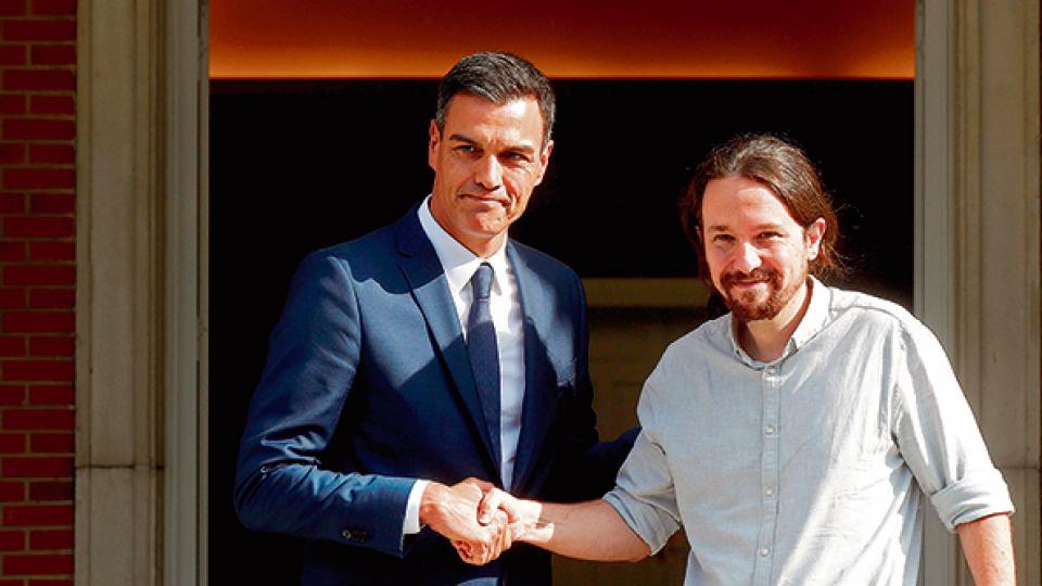 Pedro Sánchez y Pablo Iglesias acordaron una hoja de ruta.