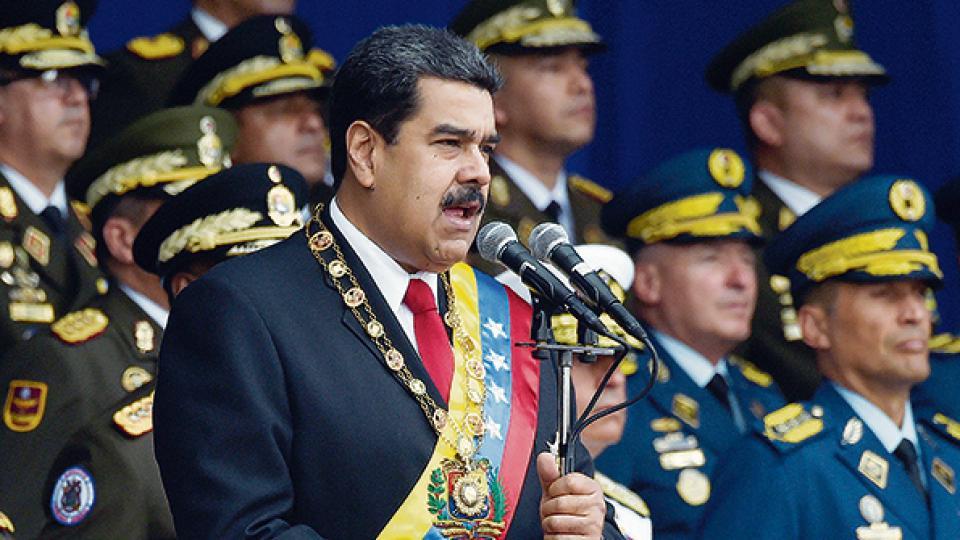 El presidente venezolano Nicolás Maduro fue blanco de varios intentos de derrocamiento.
