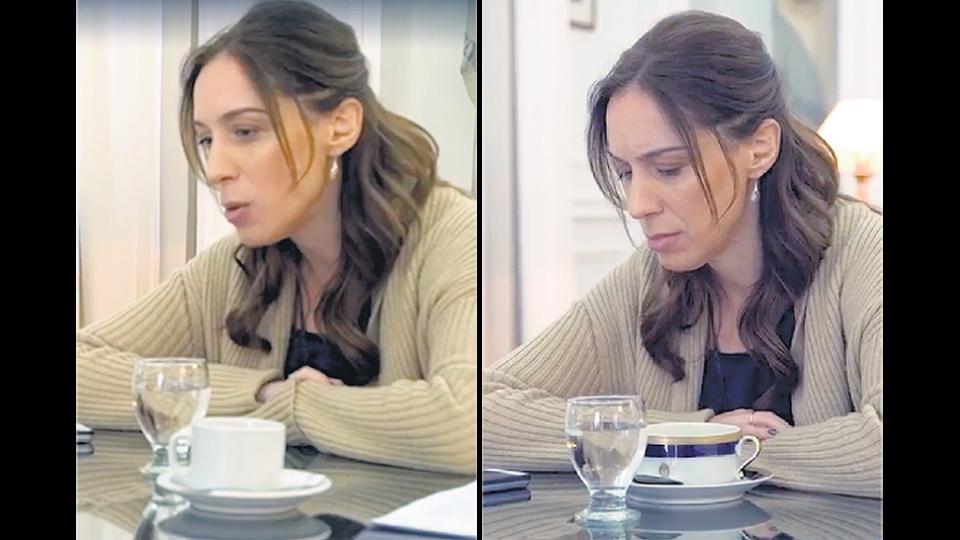 Las distintas tomas del video muestran que se cambió la taza que tenía Vidal.