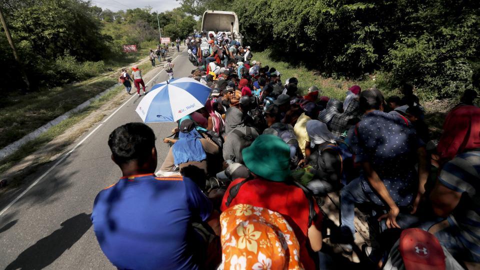 Mas de siete mil caminantes marchan en México hacia Estados Unidos. Una sombra de temor sobrevuela a la caravana
