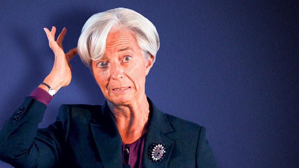 Christine Lagarde, titular del FMI. Los escenarios pesimistas de junio fueron superados por la realidad. Esta vez advierten sobre un probable colapso.