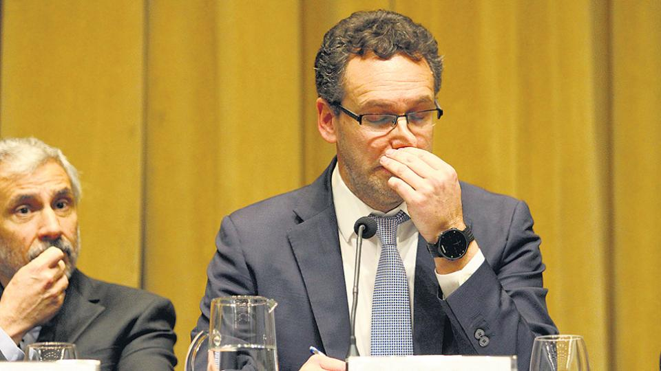 Guido Sandleris, presidente del Banco Central. Las Leliq ya suman 476 mil millones de pesos.