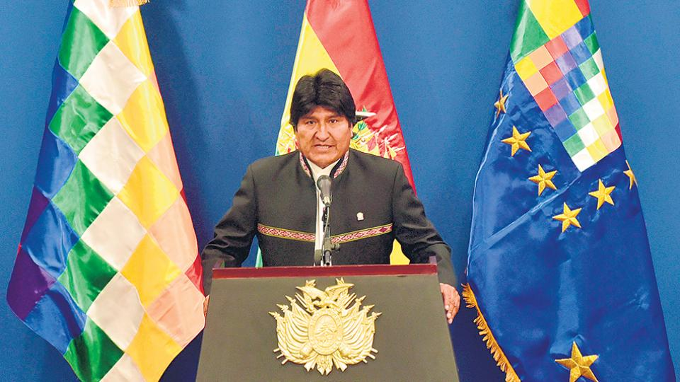 Morales invitó a Piñera a conversar en relación al fallo de la Corte Internacional de Justicia.
