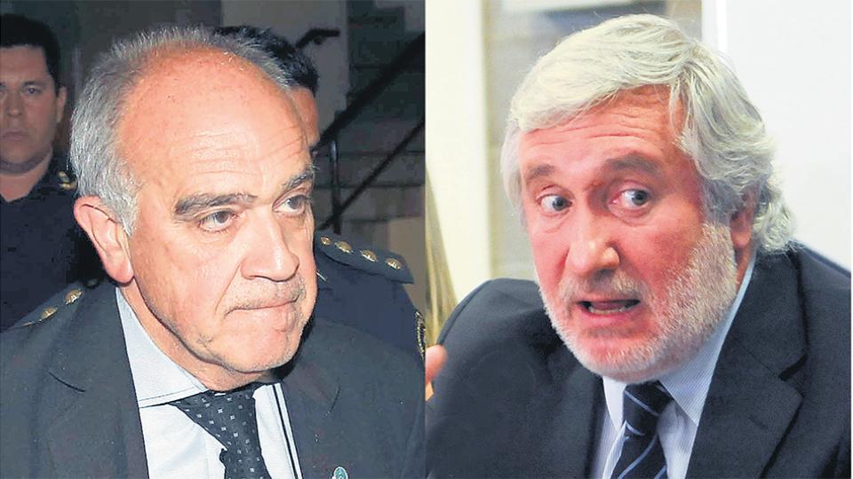 El juez Luis Carzoglio y el procurador Julio Conte Grand, enfrentados por la causa Moyano.