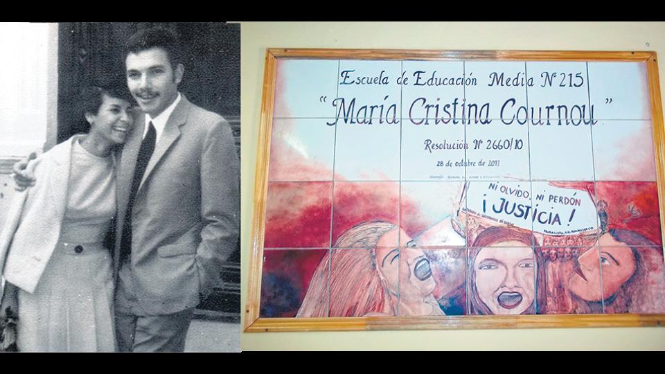 María Cristina Cournou y Nicolás Grandi permanecen desaparecidos. Desde 2011 una escuela de Moreno lleva el nombre de Cournou.