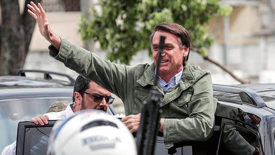 """Pretendemos transferir la embajada de Brasil de Tel Aviv a Jerusalén"", dijo ayer Bolsonaro."