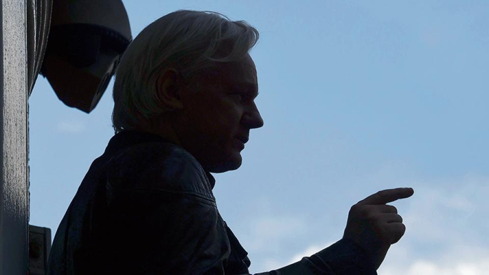 Julian Assange, en la mira desde 2010, asilado en Londres desde 2012.