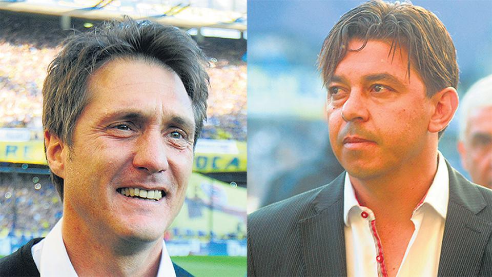 Como técnicos de Boca y River, Barros Schelotto y Gallardo disputaron diez superclásicos.