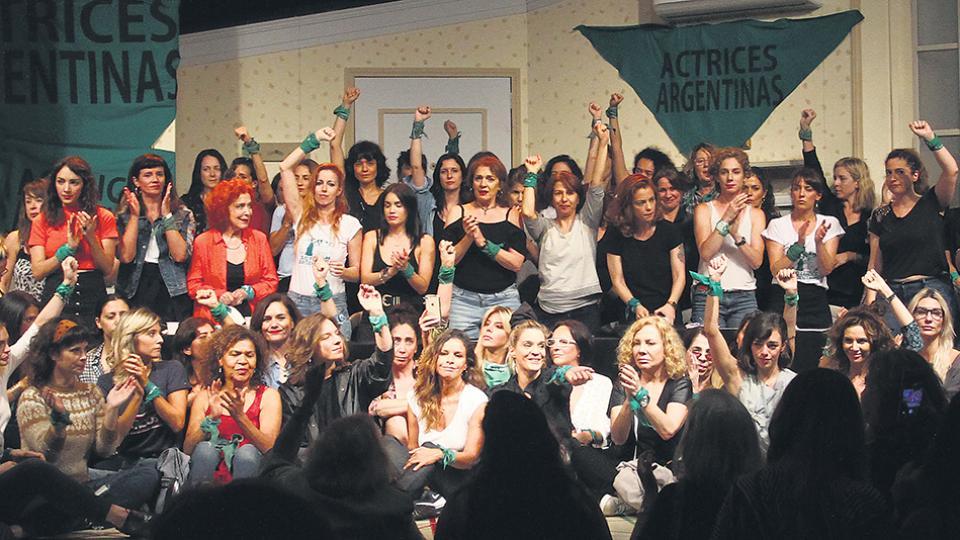 Estuvieron presentes más cien actrices, de las 400 que conforman la entidad.
