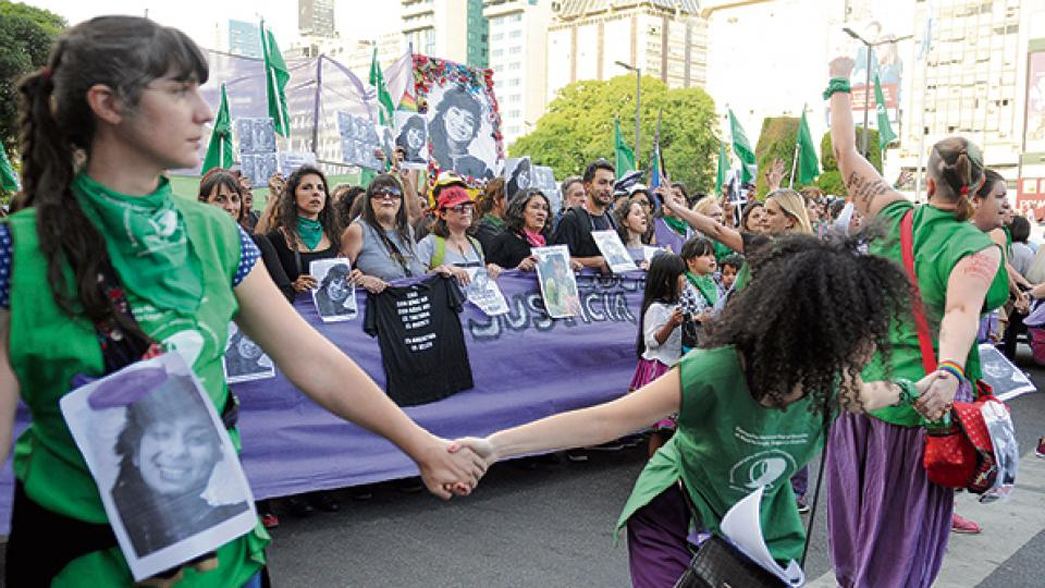 La marcha coronó un nuevo paro de mujeres: el primero fue justamente por la muerte de Lucía.