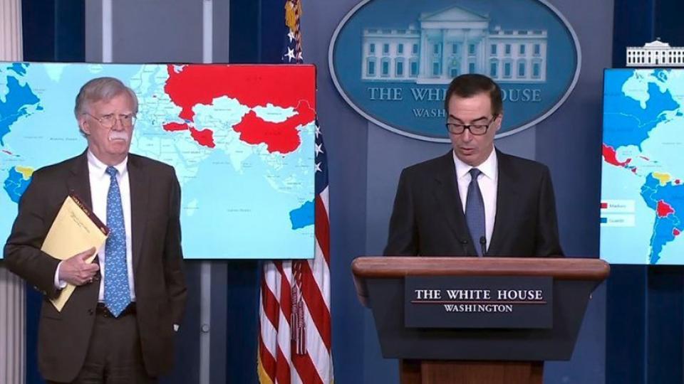 Ayer en conferencia de prensa, el gobierno estadounidense anunció embargos a la petrolera venezolana.