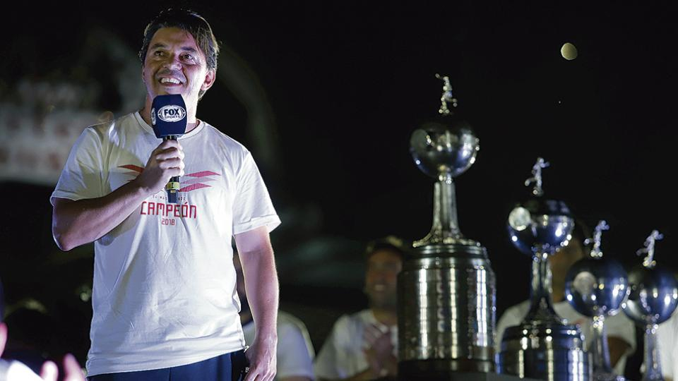 Marcelo Gallardo fue premiado por sus dos títulos logrados durante 2018.