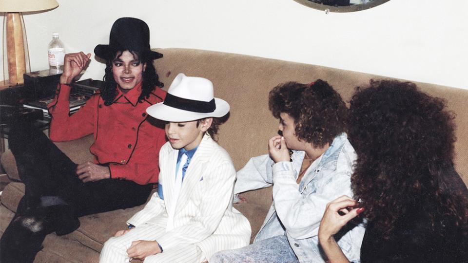 Jackson en la casa de Wade Robson, que visitaba a menudo.