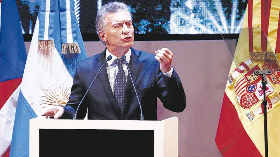 """""""Una pyme no puede crecer con una tasa del 70 por ciento"""", concedió Macri sin ofrecer solución."""