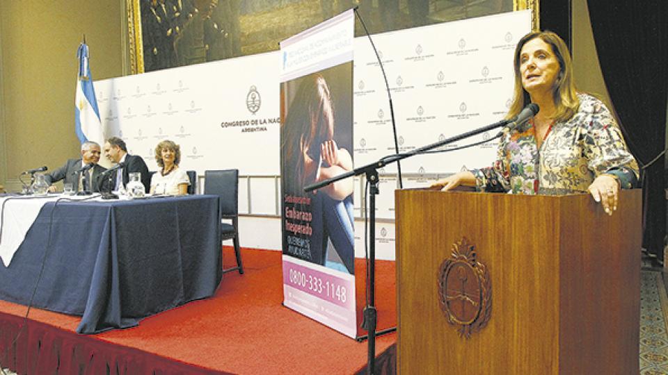 La presentación del convenio se hizo en el Salón de los Pasos Perdidos de la Cámara de Diputados.