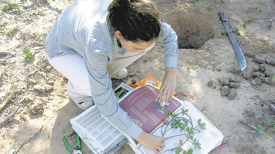 María Eugenia Suárez visita la región de los wichí en el Chaco desde hace más de diez años.