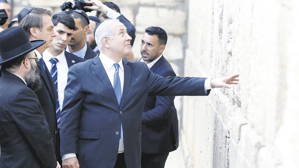La visita de Bolsonaro es un gesto simbólico ocho días antes de las elecciones en Israel.