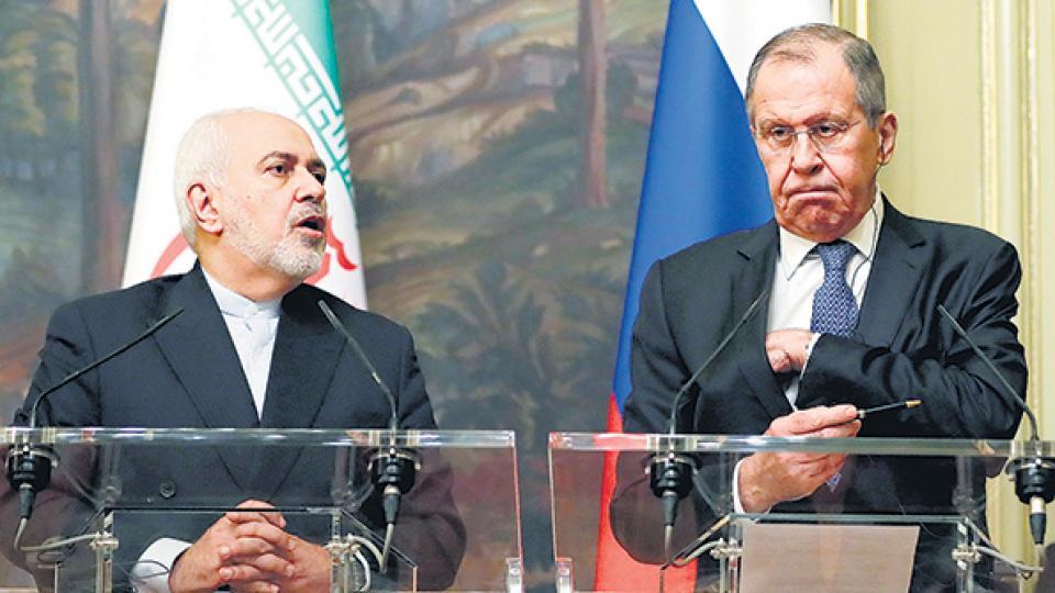 El canciller iraní Mohamad Yavad Zarif se reunió con su colega ruso, Serguéi Lavrov.
