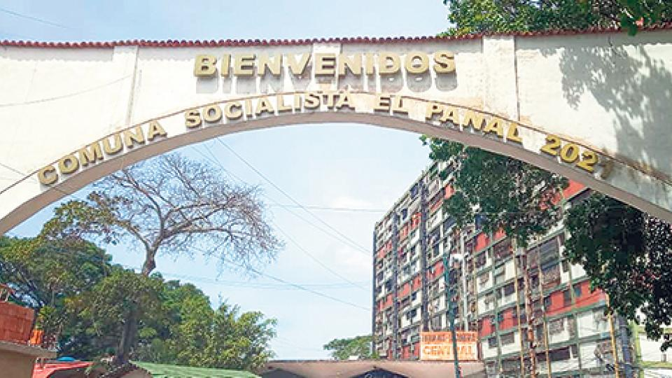 Entrada al barrio 23 de Enero, uno de los bastiones del chavismo en el oeste de Caracas.