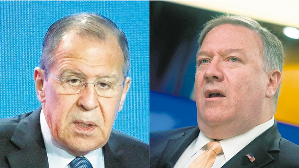 Lavrov y Pompeo intercambiaron advertencias por la crisis en Venezuela.
