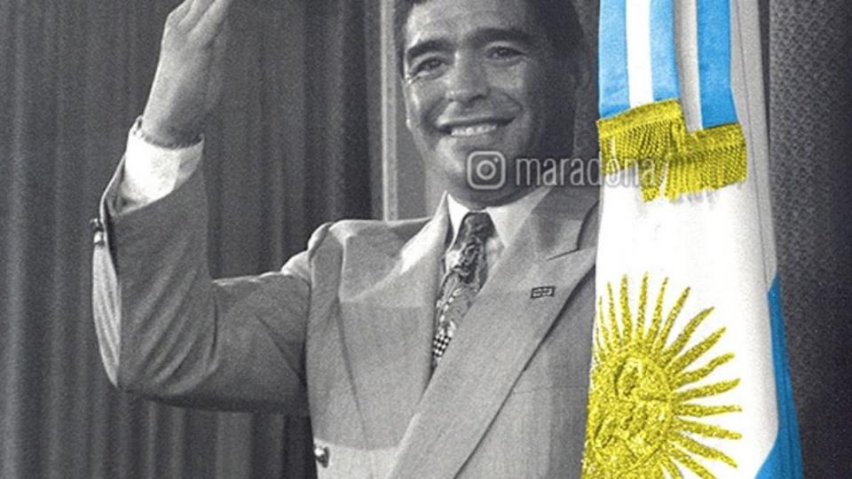 """Maradona y el Día de la Lealtad: """"Yo fui, soy y seré siempre peronista"""""""