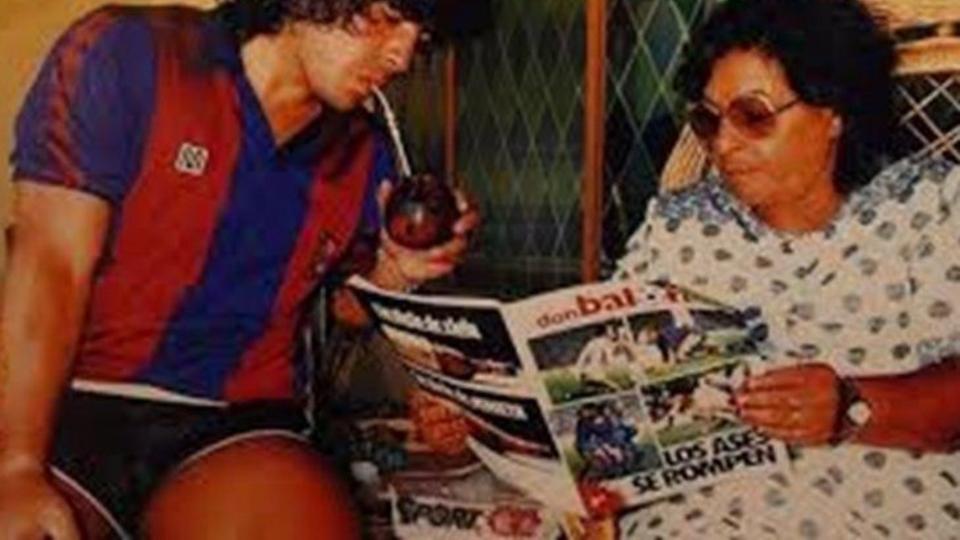 Emotivo mensaje de Maradona para Doña Tota, su mamá